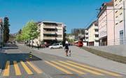 Die Teufener Strasse im Riethüsli, wie sie im Jahr 2018 aussehen könnte… (Bild: Fotomontage: pd)