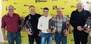 Markus Fräfel, Rolf Ammann, Enrico Fonseca, Köbi Schönenberger und Walter Zgraggen (von links) gingen 2017 in die frühzeitige Pension. (Bild: PD)