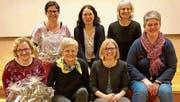An der HV (von links): Carola Dörig und Ulrike Enz (beide Rücktritt), Irma Kehl (neue Präsidentin), Andrea Spirig, Nadja Dennler, Annemarie Köppel und Martina Lüchinger (Co-Präsidentin). (Bild: pd)