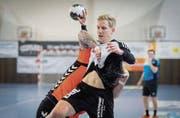 Liga-Topscorer Lucius Graf und seine Teamkameraden machen Gossau zu einer Handballstadt. (Bild: Benjamin Manser)