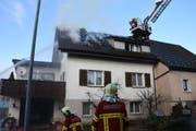 Der 75-jährige Bewohner des Brandobjektes war nicht zu Hause. (Bild: Kapo SG)