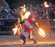 In zwei Jahren werden auf der Reitwiese wiederum spektakuläre Feuerkämpfe zu sehen sein. (Bild: Markus Eberl)