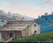 Die Darstellung einer ärmlichen Hütte. Sie ist das Geburtshaus Ulrich Ammanns in der Nesselhalden bei Alt St. Johann. (Bilder: PD)