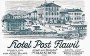Das Postgebäude zierte einst als Schmuckstück den Bahnhofplatz und viele Postkarten von Flawil. (Bild: PD)