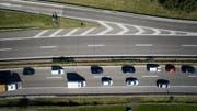 Die Provokationen begannen kurz vor der Autobahnverzweigung Meggenhus. (Bild: Michel Canonica, Benjamin Manser)