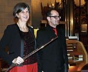 Renate Lemmer und Andreas Schönenberger verzückten ihr Publikum. (Bild: Max Pflüger)