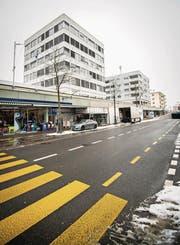 Das Gebäude an der Bahnhofsstrasse 55 wurde Anfang März vorsorglich geräumt. (Bild: Reto Martin)