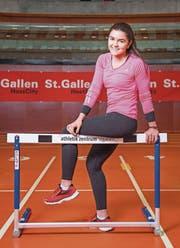 Larissa Bertényi ist in dieser Saison die zweitschnellste Schweizerin über 60 m Hürden. (Bild: Urs Bucher)