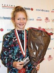 Die 12-jährige Karolina Kozakova gewann an den Hallenmeisterschaften bei den unter 14-Jährigen die Bronzemedaille. (Bild: Marie Theres Brühwiler)