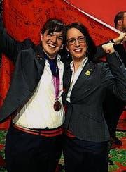 Dominique Zwygart (links) und Karin Bischoff. (Bild: pd)