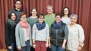 Vorstand und Neumitglieder (hinten, von links): Marco Eichmann (Vize-Präsident, MuKo-Mitglied), Daniela Steiger (Beisitzerin), Gunnar Wald (Präsident, MuKo Mitglied), Shaine Eichmann (Neumitglied); vorne, von links: Kathrin Spiegel (Kassierin), Petra Sieber (Aktuarin), Brigitte Gebert (MuKo-Mitglied), Ursi Berger (Neumitglied), Ursula Bardorf (Neumitglied): nicht auf dem Foto ist Jennifer Eichmann (Instrumente). (Bild: pd)