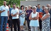 Sie sind «Made in Balgach»: Die Vertreter von 40 Betrieben, die von Gemeindepräsidentin Silvia Troxler und OK-Präsident Daniel Dietrich begrüsst wurden. (Bilder: Remo Zollinger)
