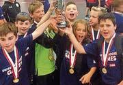 Das Team feierte den Schweizer Meistertitel gebührend. (Bild: pd)