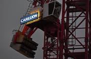 Das Carillion-Logo auf einer Baustelle in London. (Bild: Andy Rain/EPA (London, 15. Januar 2018))