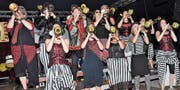 Die Räbafäger setzten den Schluss- und Höhepunkt an ihrer Jubiläumsfeier. (Bild: René Jann)