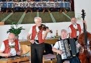 Das Echo vom Saum: Hans Hürlemann (Hackbrett), Koni Menet (Geige), Max Schläpfer (Handorgel) und Köbi Hardegger (Bass). (Bild: PD)