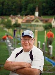 Hermann Hotz, OK-Mitglied fürs Eidgenössische Veteranen-Sportschiessen, auf der Weiherweid. (Bild: Michel Canonica)