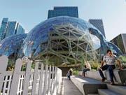 Amazons erstes Hauptquartier in Seattle trägt den Namen «Day 1». (Bild: Elaine Thompson/AP (27. September 2017))