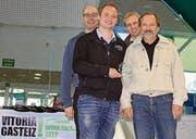 Podestplatz in Spanien: CC Uzwil mit Jean-Nicolas Longchamp und Roman Ruch (hinten von links) sowie Manuel und Romano Ruch (vorne von links). (Bild: zVg)