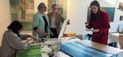 Begeisterte Workshop-Teilnehmerinnen: (v. l.) Franziska Breu, Berneck, Verena Brassel, Altstätten, Nicole Stampfli, Rebstein, und Tanja Mihajlovic, Altstätten. (Bild: H. K.)