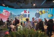 Grosse Videowände dominieren die Sonderschau des Gastlandes Liechtenstein an der Olma. (Bilder: Urs Bucher)