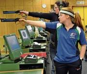 Nicole Messmer (vorne) holt Silber vor Manuela Keller (hinten). (Bild: pd)