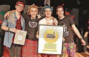 Auf dem ersten Platz landeten nach ihrem schrillen Auftritt in Punk-Manier die Crying Children. (Bild: Roman Rüssmann)
