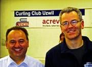 Marco Ruch (links) tritt als Präsident ab, Marc Stäheli übernimmt. (Bild: uno)