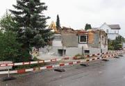 Das Gebäude wird abgetragen. (Bild: Manuela Bruhin)