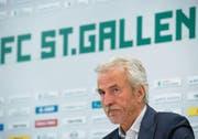 Der 65-jährige Dölf Früh legt aus gesundheitlichen Gründen das Präsidentenamt des FC St. Gallen nieder. (Bild: Urs Bucher)