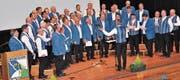 Als stattlicher Chor präsentierte sich die Singgemeinschaft Rebstein-Marbach. (Bild: René Jann)