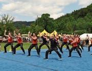Die Turner des STV Dussnang-Oberwangen konnten in vielen der 12 Disziplinen überzeugen. (Bild: Michael Schauberger)
