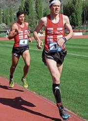 Daniel (vorne) und Martin Hubmann beim gemeinsamen Training. (Bild: Urs Huwyler)