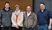 Die Referenten beim Kurs «Planung der Hofübergabe», Peter Künzler, Seline Heim, Peter Weiss und Reto Meile (von links). (Bilder: Adi Lippuner)