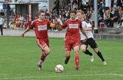 Dem FC Bütschwil steht das Wasser bis zum Hals. Die Mannschaft findet nur als Einheit auf die Erfolgsstrasse zurück. (Bild: Beat Lanzendorfer)