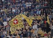 Die volle Sporthalle Kreuzbleiche beim Finalspiel gegen Suhr 1999. (Bild: Sammlung Dominique Gmür)