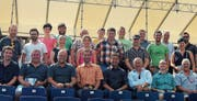 Das OK des Jubiläumsschwingfests weilte in Interlaken. (Bild: PD)
