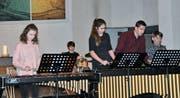 Das Mallet-Ensemble Xylorimba der Musikschule Toggenburg unter der Leitung von Martin Flüge umrahmte die Bürgerversammlung der Schulgemeinde Wattwil-Krinau. (Bilder: Sabine Schmid)
