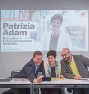 Wahlkampf-Selfie: Michael Hugentobler, Patrizia Adam und Stefan Grob (von links). (Bild: Urs Bucher)