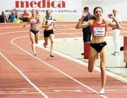 Die 22-jährige Bütschwilerin Chiara Scherrer holte sich an den Hallen-Meisterschaften ihren ersten Schweizer-Meister-Titel. (Bild: PD)