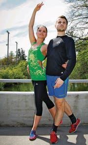 Christina Niederer und Nikolai Babin trainieren seit vergangener Woche zusammen in Dübendorf. (Bild: Raya Badraun)