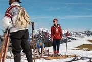 Skifahren wie zu früheren Zeiten: Am Samstag findet das zweite Nostalski-Rennen statt. (Bild: PD)