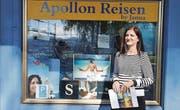 Das gemütliche Reisebüro Apollon Reisen von Joanna Arvanitidis am Kreisel an der Grenzstrasse. (Bild: mia)
