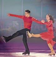 Der Kür des Nachwuchstanzpaars Alina Klein und Maxim Kobelt überzeugte die Preisrichter am Wochenende ebenso wie im Dezember das Publikum an der Show on Ice. (Bild: Harry Höfinger)