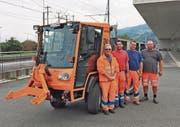 Das neue Fahrzeug des Bauamts Rheineck steht bereits im Einsatz. (Bild: sk)