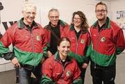 Das Wiler Sportschützen-Team zeigte sich auch mit der Halbfinal-Qualifikation zufrieden. (Bild: Ernst Inauen)