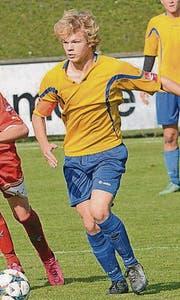 Ein Talent, das beim Stammverein geblieben ist: Jaro Böhrer (17) vom FC Au-Berneck. (Bild: Archiv/ys)