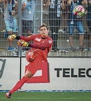 Goalie Steven Deane spielte alle Partien durch. (Bild: Michel Canonica)