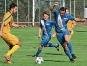 Livio Sanseverino (rechts) hat beim FC Rüthi die Gemeinschaft gefunden, die ihm entspricht. (Bild: Archiv/ys)