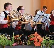 Die Blechharmonie am Wettspiel im Palace Petit Palais in Montreux. (Bild: pd)